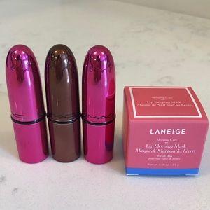 New Travel LE MAC Lipsticks & Laneige Lip Mask